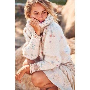 LOVESHACKFANCY Claudette Rainbow Sweater NWT Small